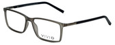 Calabria Viv Designer Eyeglasses 239 in Grey-Black 53mm :: Rx Single Vision
