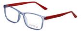 Calabria Viv Designer Eyeglasses 241 in Blue-Red 53mm :: Rx Bi-Focal