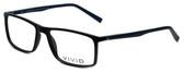 Calabria Viv Designer Eyeglasses 248 in Black-Blue 55mm :: Rx Bi-Focal