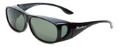 Montana Designer Fitover Sunglasses F02D in Gloss Black & Polarized G15 Green Lens