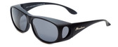 Montana Designer Fitover Sunglasses F03G in Matte Black & Polarized Grey Lens