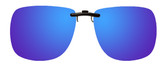 Montana Eyewear Clip-On Sunglasses C13A in Polarized Blue Mirror/Grey 62mm