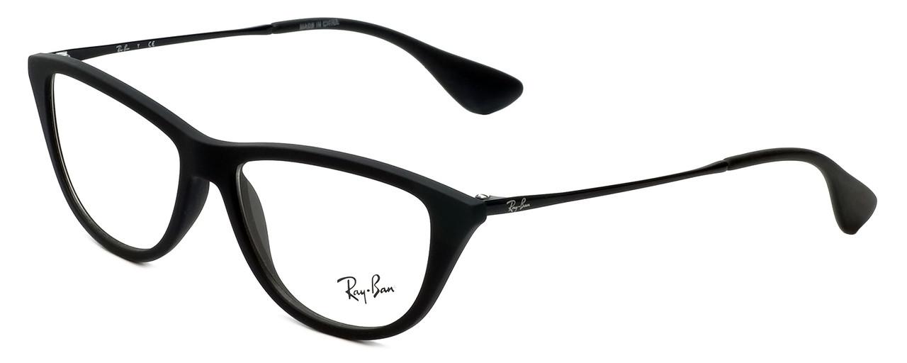 47f465a42fa45 Ray-Ban Designer Eyeglasses RB7042-5364 in Rubber-Black 54mm ...