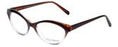 Valerie Spencer Designer Eyeglasses VS9312-BRN in Brown/Lilac Crystal 53mm :: Rx Single Vision