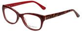 Valerie Spencer Designer Eyeglasses VS9290-RED in Red/Leopard 48mm :: Rx Bi-Focal
