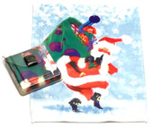 Holiday Christmas Theme Cleaning Cloth, Santa