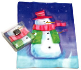Holiday Christmas Theme Cleaning Cloth, Snowman