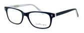 Ernest Hemingway Designer Reading Glasses H4617 in Matte-Black-White 52mm