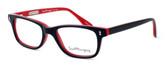 Ernest Hemingway Designer Eyeglasses H4617 (Small Size) in Black-Red 48mm :: Custom Left & Right Lens
