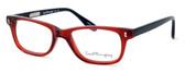 Ernest Hemingway Designer Eyeglasses H4617 (Small Size) in Red-Black 48mm :: Custom Left & Right Lens