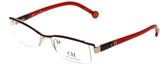 Carolina Herrera Designer Eyeglasses VHE014-0307 in Red 53mm :: Custom Left & Right Lens