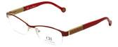 Carolina Herrera Designer Eyeglasses VHE025-0SAH in Red Beige 53mm :: Progressive