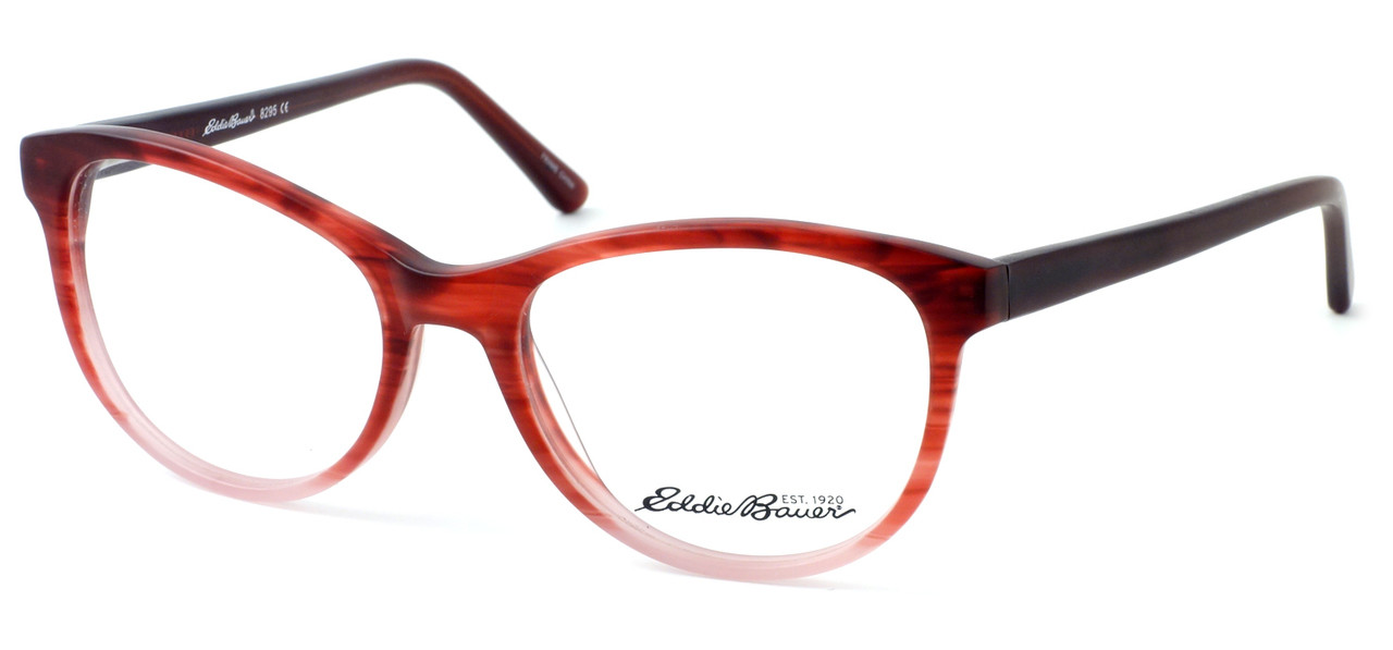 e07c5e2efc Eddie Bauer Designer Eyeglasses EB8295 in Matte-Burgundy Fade 52mm    Rx  Single Vision