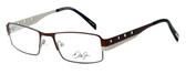 Dale Earnhardt, Jr. Designer Eyeglasses DJ6707 in Brown-Silver 52mm :: Rx Single Vision