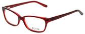 Ecru Designer Eyeglasses Beck-005 in Red 53mm :: Progressive
