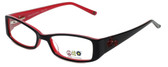 Daisy Fuentes Designer Eyeglasses DFPEACE417-021 in Black 50mm :: Rx Bi-Focal