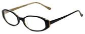 Ellen Tracy Designer Eyeglasses ET3002-BKDA in Black 52mm :: Custom Left & Right Lens