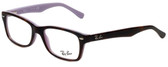 Ray-Ban Designer Eyeglasses RB1531-3700 in Tortoise Violet 48mm :: Progressive