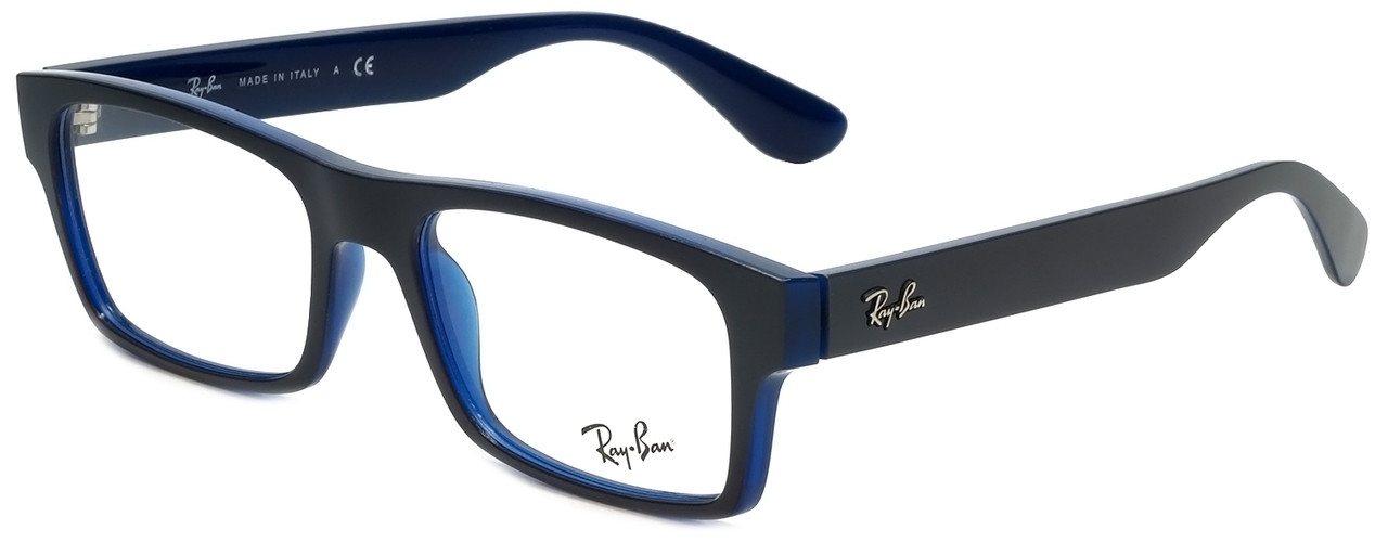 Ray-Ban Designer Eyeglasses RB7030-5397 in Blue 53mm :: Rx ...