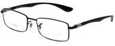 Ray-Ban Designer Eyeglasses LiteforceRB6286-2509 in Black 52mm :: Custom Left & Right Lens