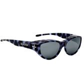 Jonathan Paul® Fitovers Eyewear Medium Chic Kitty in Blue Cheetah & Grey CK003S