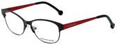 Jonathan Adler Designer Eyeglasses JA100-Black in Black 53mm :: Rx Single Vision