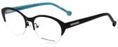 Jonathan Adler Designer Eyeglasses JA101-Black in Black 52mm :: Rx Single Vision