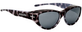 Jonathan Paul® Fitovers Eyewear Medium Chic Kitty in Black Cheetah & Grey CK001S
