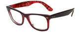 Ray-Ban Designer Eyeglasses RB2140-1200-4W in Burgundy 50mm :: Custom Left & Right Lens