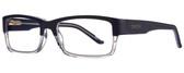 Smith Optics Designer Eyeglasses Rhodes in Blue Crystal 56mm :: Rx Single Vision