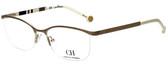 Carolina Herrera Designer Eyeglasses VHE060-0300 in White Gold 54mm :: Rx Bi-Focal