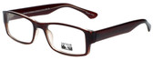 Gotham Style Designer Eyeglasses G232 in Brown 60mm :: Progressive