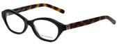 Tory Burch Designer Eyeglasses TY2044-1385-52 in Black Tortoise 52mm :: Rx Single Vision