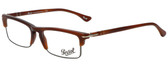 Persol Designer Eyeglasses PO3049V-957-52 in Corrugate Brown 52mm :: Progressive