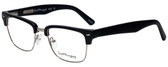 Ernest Hemingway Designer Eyeglasses H4828 in Matte Black Silver 53mm :: Custom Left & Right Lens