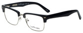 Ernest Hemingway Designer Eyeglasses H4828 in Shiny Black Silver 53mm :: Rx Single Vision