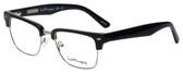 Ernest Hemingway Designer Eyeglasses H4828 in Shiny Black Silver 53mm :: Rx Bi-Focal