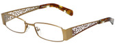 Calabria Designer Reading Glasses 812-GLD in Gold 49mm