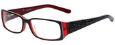 Calabria Designer Eyeglasses 818-BLK in Black 52mm :: Rx Single Vision