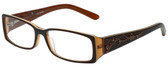 Calabria Designer Eyeglasses 818-BRN in Brown 52mm :: Progressive