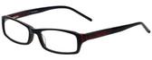 Calabria Designer Eyeglasses 819-BLK in Black 52mm :: Progressive