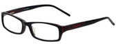 Calabria Designer Eyeglasses 819-BLK in Black 52mm :: Rx Bi-Focal