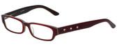 Calabria Designer Eyeglasses 820-RED in Red 50mm :: Custom Left & Right Lens