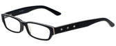 Calabria Designer Eyeglasses 820-BLK in Black 50mm :: Rx Single Vision