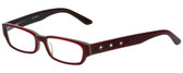 Calabria Designer Eyeglasses 820-RED in Red 50mm :: Rx Single Vision