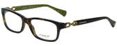 Coach Designer Eyeglasses HC6052-5232 in Dark Tortoise 52mm :: Custom Left & Right Lens