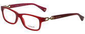 Coach Designer Eyeglasses HC6052-5237 in Burgundy/Pink  52mm :: Custom Left & Right Lens