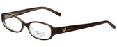 Coach Designer Eyeglasses HC2035-223 in Brown 48mm :: Rx Single Vision