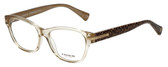 Coach Designer Eyeglasses HC6050-5235 in Brown Crystal 53mm :: Rx Single Vision