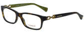 Coach Designer Eyeglasses HC6052-5232 in Dark Tortoise 52mm :: Rx Single Vision